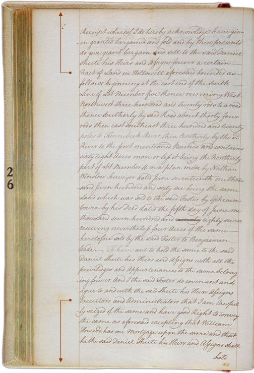 Land deeds of Rev. Foster August 2, 1790 Page 66 (back). Choose 'View Text' (at top) for faster download.