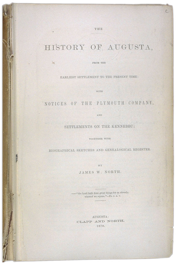 The History of Augusta Title page. Choose 'View Text' (at top) for faster download.