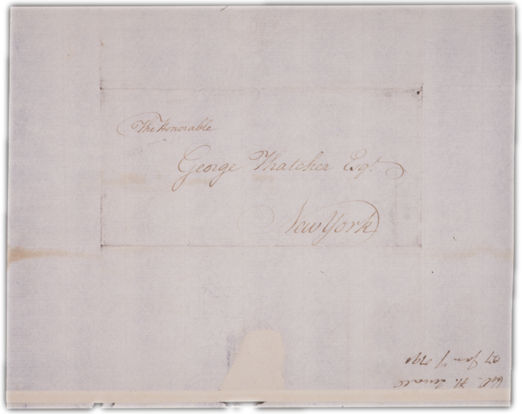 Letter to George Thatcher in Boston Envelope. Choose 'View Text' (at top) for faster download.