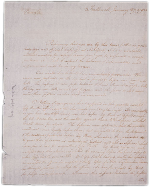 Letter to George Thatcher in Boston Page 1. Choose 'View Text' (at top) for faster download.