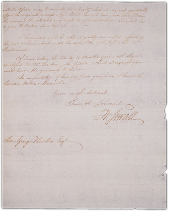 Letter to George Thatcher in Boston Page 2. Choose 'View Text' (at top) for faster download.