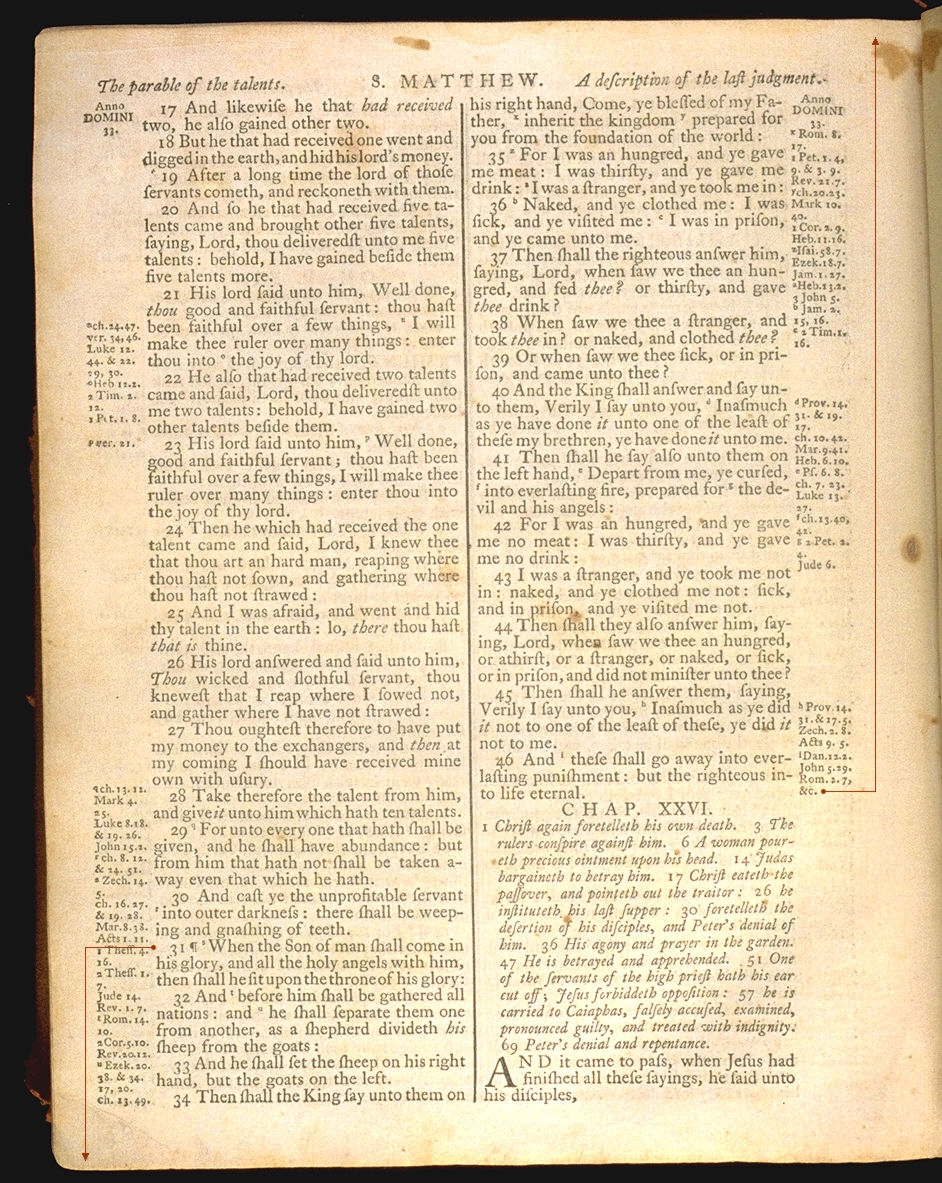 The Holy Bible, King James version Matthew 25. Choose 'View Text' (at top) for faster download.