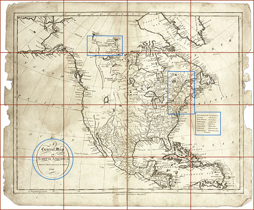 North America Map Mississippi River.Map Of N America 1795